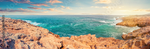 Fotografie, Obraz Turquoise bay on Akamas Peninsula. Aphrodite's trail