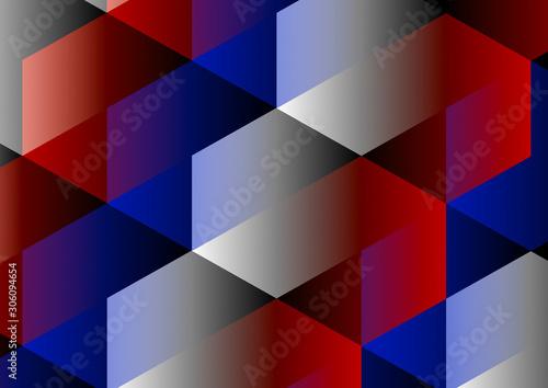 Obraz Emboîtement d'hexagones tricolores - fototapety do salonu
