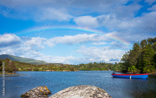 Rainbow over Bantry Bay in Ireland Canvas Print