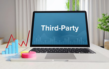 Third-Party – Statistics/Business. Laptop In The Office With Term On The Screen. Finance/Economy.