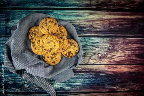 фотография Delicious chocolate cookies