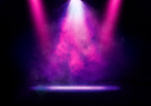 Abstract Image Of A Disco Light On A Stage