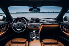 Modern Car Dashboard And Inter...