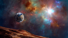 Space Background. Earth Planet...