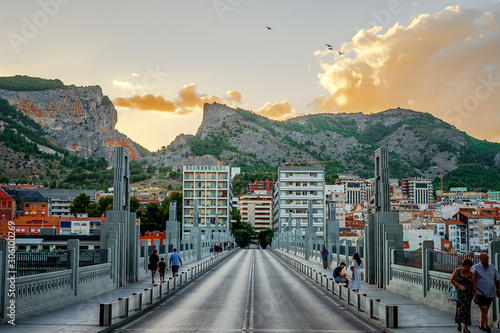 Street and mountains