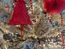 Christmas Ornaments On A Everg...