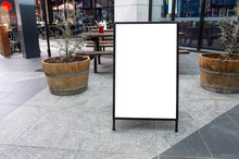 Blank White Outdoor Advertisin...