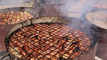 Grilled Meat Cooked With Oak W...