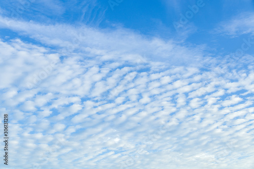 Blue sky with white clouds Canvas Print