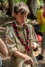 Boy Scout With A Pocket Knife ...