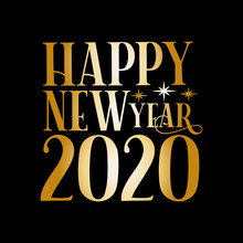 Happy New Year 2020- Gold Colo...