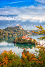 Famous Alpine Bled Lake (Blejs...