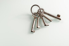 Closeup Of A Bunch Of Old Keys...