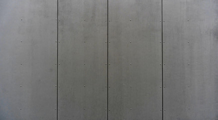 modern materials in the construction industry. Texture of metal cladding of a building facade closeup.