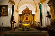 Altar Catholic Church - Cathedral San Jose Antigua Guatemala Inside - Baroque Architecture, Communion Table
