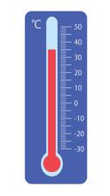 温度計 35℃ 青