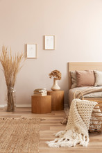 Beige Kid's Room With Wooden N...