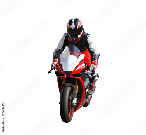 Racer on a sports motorcycle Wall mural