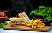Club Sandwich With Side French...