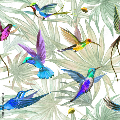 hummingbird-ptakow-bezszwowy-wzor-na-palmie-opuszcza-tlo-akwareli-ilustracja-tropikalny-nadruk-na-tkanine-tapete-tlo-dla-roznych-de
