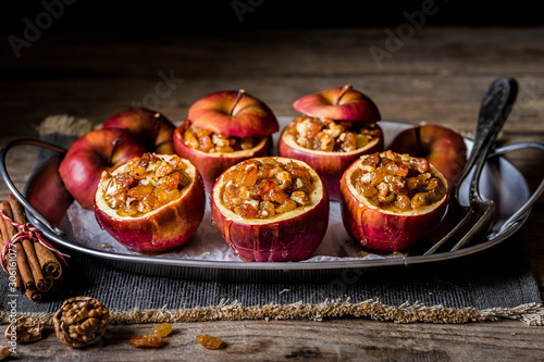 Fototapeta Baked Stuffed Apples obraz