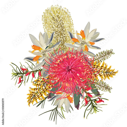 Photo Realistic Australian Bush Florals
