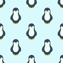 Vector Pattern With Penguins I...