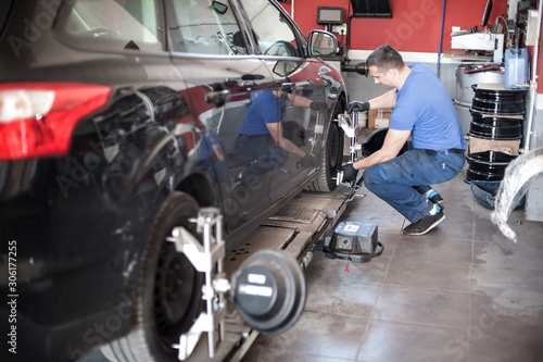 Photo Wheel alignment