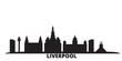 United Kingdom, Liverpool city skyline isolated vector illustration. United Kingdom, Liverpool travel cityscape with landmarks