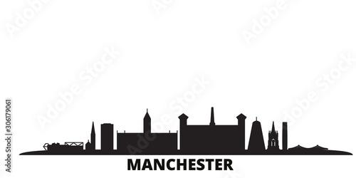 United Kingdom, Manchester city skyline isolated vector illustration Wallpaper Mural