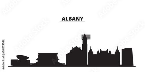 United States, Albany city skyline isolated vector illustration Fototapet