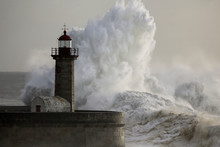 Stormy Lighthouse With Interes...