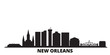 United States, New Orleans city skyline isolated vector illustration. United States, New Orleans travel cityscape with landmarks