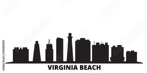 Cuadros en Lienzo United States, Virginia Beach city skyline isolated vector illustration