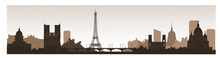 Panorama Of Paris Flat Style V...