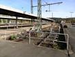 Geländer vor einem Abstellgleis am Bahnhof Altenbeken bei Paderborn in Ostwestfalen-Lippe
