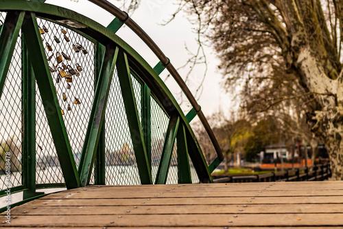 Photo Puente verde con alambrado
