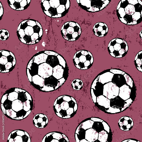 seamless abstract background with soccer ball
