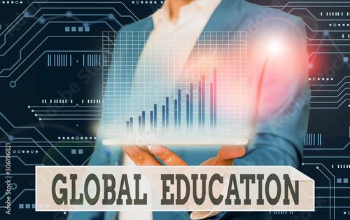 Conceptual hand writing showing Global Education Wallpaper Mural
