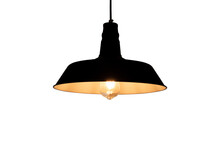 Black Hanging Lamp With Warm L...