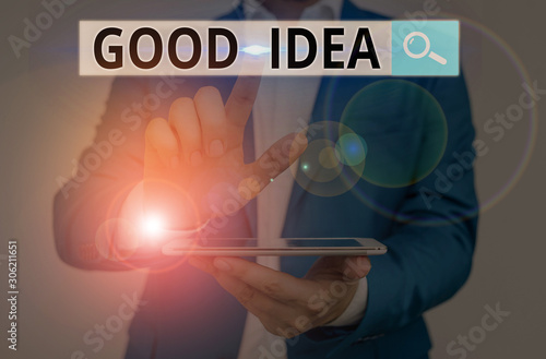 Valokuvatapetti Conceptual hand writing showing Good Idea