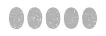 Set Of Fingerprint Or Thumbprint Vector