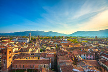 Lucca Panoramic Aerial View Of...