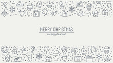 Christmas Background With Outl...