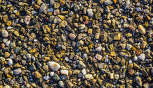 Pattern Of Pebble Stones Cemented Together, Decorative Architecture Background