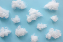 Cotton Wool Clouds On Light Bl...