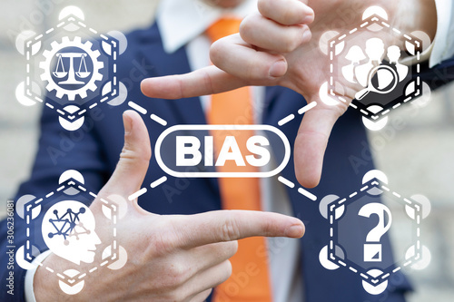 Photo Bias Prejudice Discrimination Diversity Business Politics Employee Rights Concept