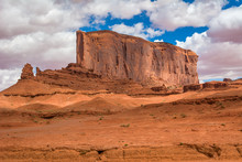 Red Rocks Of Monument Valley. Navajo Tribal Park Landscape, Utah/Arizona, USA