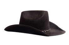 Black Cowboy Hat Isolated On W...
