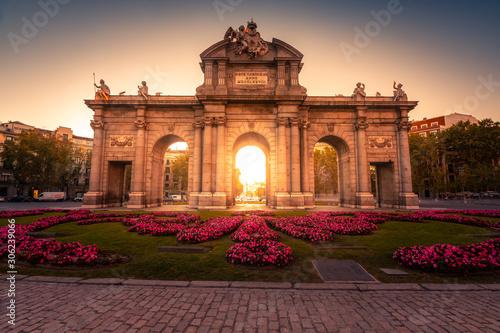 """Puerta de Alcala"" / Alcala Gate in the center of Madrid, Spain."